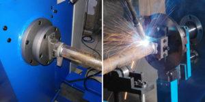 Máy hàn ống kim loại tự động