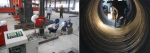 Máy hàn mặt trong ống kim loại