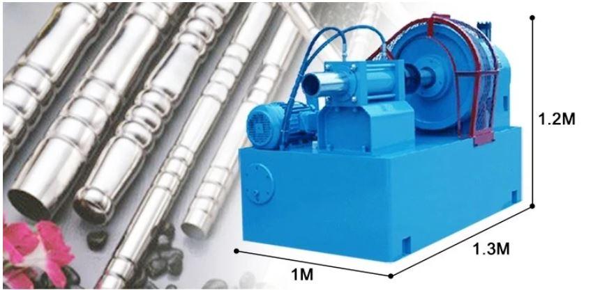 Kích thước máy côn ống tạo hình lan can H50