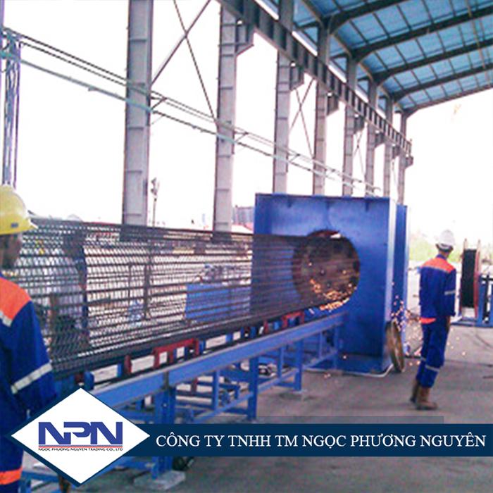 Máy hàn khung rầm cột bê tông dự ứng lực tự động GK250/1200