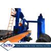 Máy phun bi làm sạch bên ngoài ống thép Bruco BP300-4/BP300-2