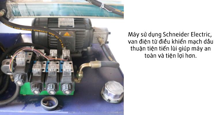 Van điện tử trên máy côn hộp vuông từ ống tròn tạo chân bàn ghế MY-76