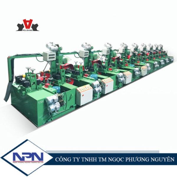 Hệ thống máy đánh bóng ống vuông inox tự động nạp phôi ADV-121
