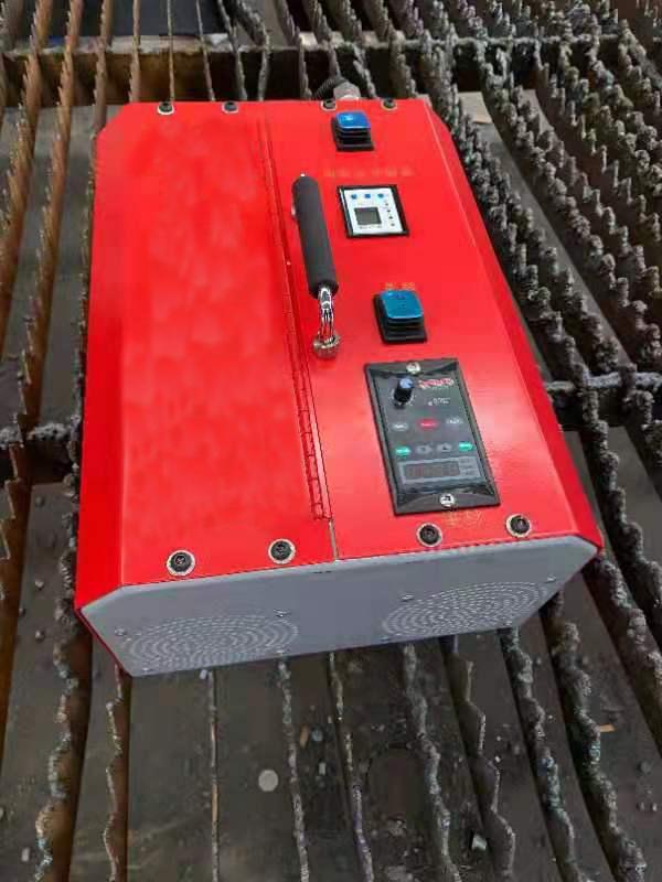 Máy tẩy xỉ, loại bỏ xỉ kim loại cho giá đỡ trên máy cắt laser, plasma