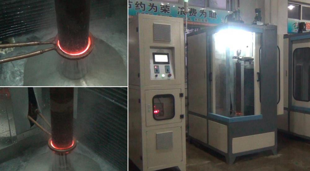 Máy xử lý nhiệt cảm ứng 100KW cho trục kim loại